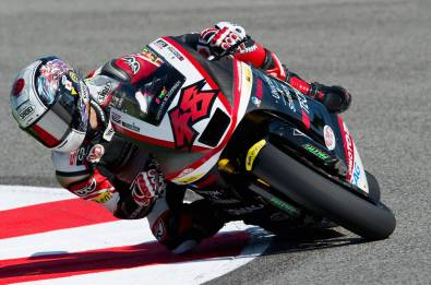 MISANO ADRIATICO, ITALY - SEPTEMBER 03: Shoya Tomizawa of Japan and Technomag - CIP rounds the bend during the first free practice of MotoGP of San Marino in Misano World Circuit in Misano Adriatico on September 3, 2010 in Misano Adriatico, Italy. (Photo by Mirco Lazzari gp/Getty Images) *** Local Caption *** Shoya Tomizawa